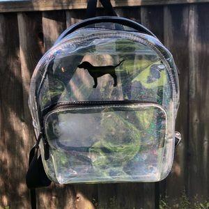 Handbags - VS Pink Mini Clear Backpack